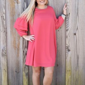 Pink Dress With Ruffle